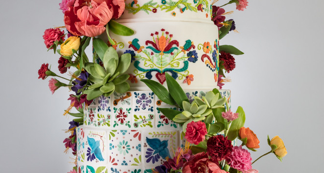 Mexican Fiesta Wedding Cake