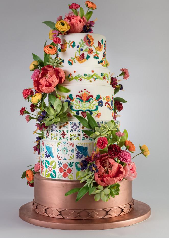 Mexican Fiesta Wedding Cake