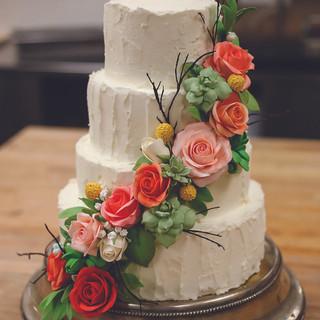 Buttercream Rustic Flower Cake