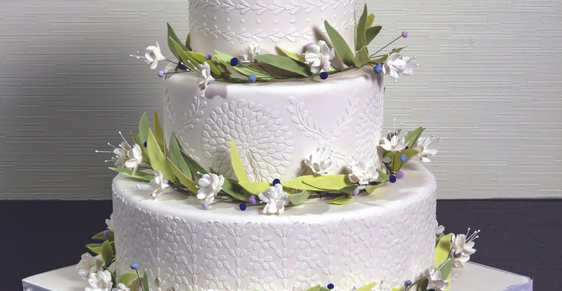 Springtime Wedding Cake