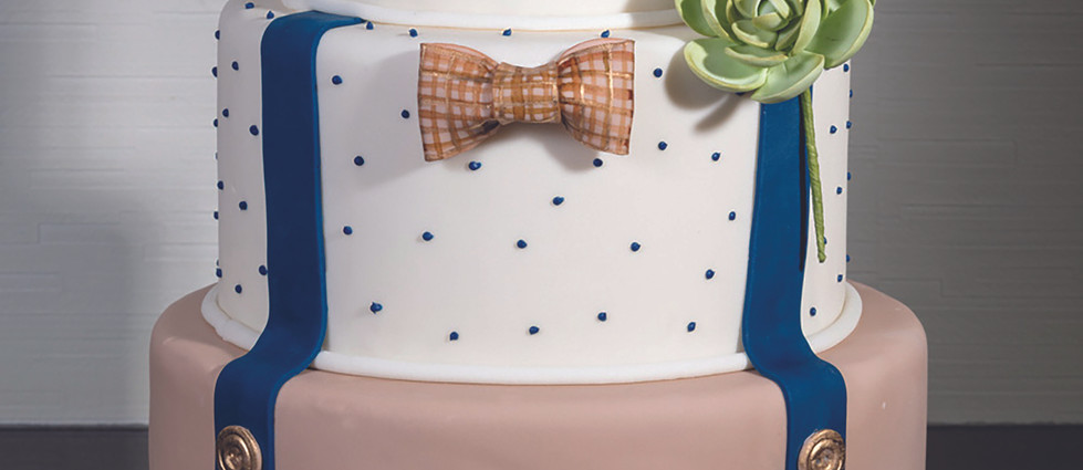 Hipster Grooms Cake