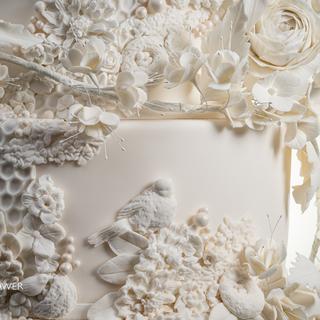 White on White honeycomb close-up