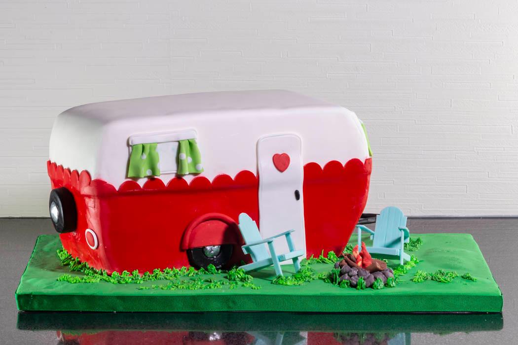 Vintage Camper Birthday Cake