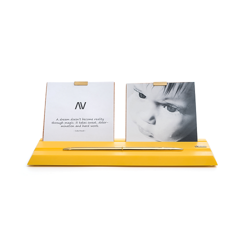 MAAMAD – jaune - Porte-photos et stylos