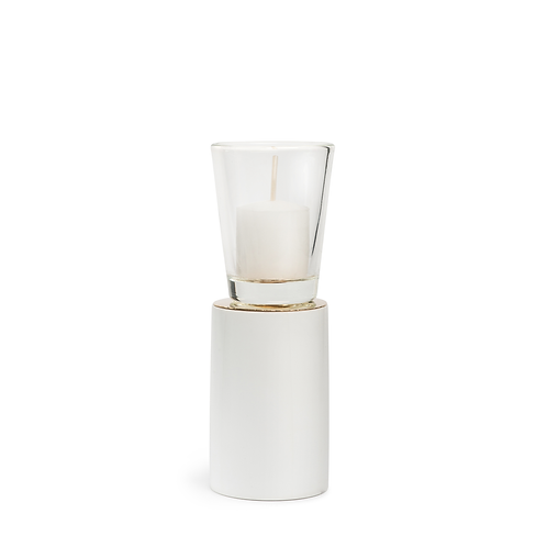 KAN - Medium - White - Candle Holder
