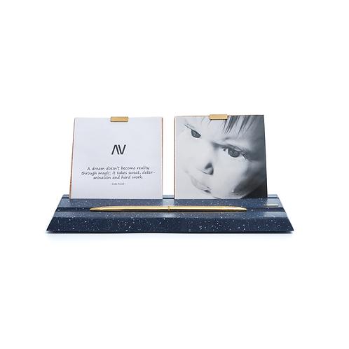 MAAMAD – nuit bleue - Porte-photos et stylos