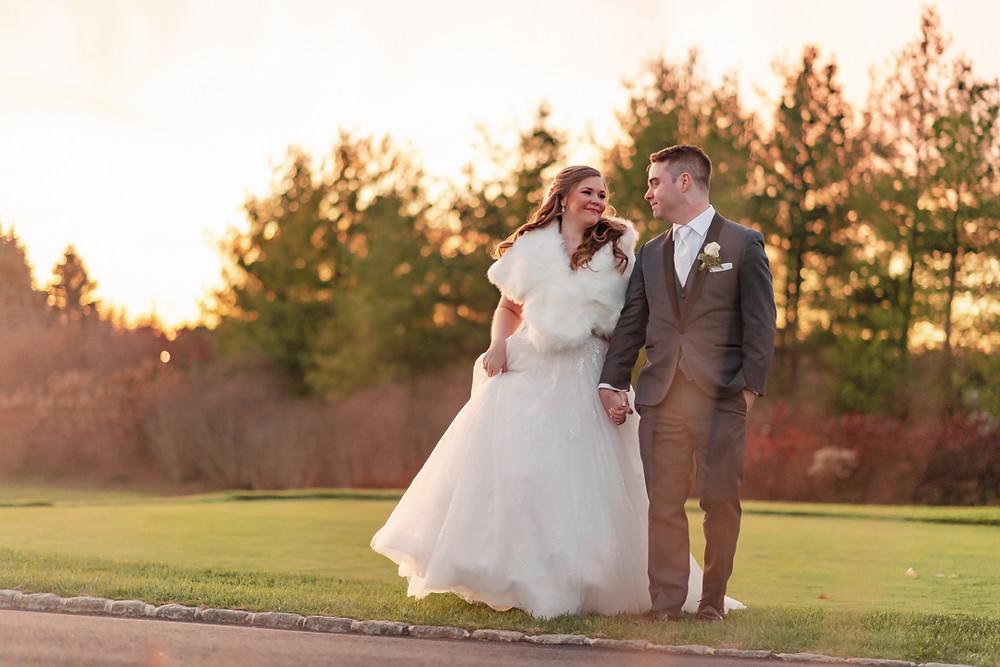 New Jersey wedding couple; real NJ wedding