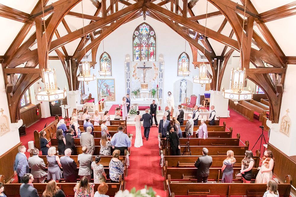 English Manor, NJ wedding, church ceremony, Idalia Photography