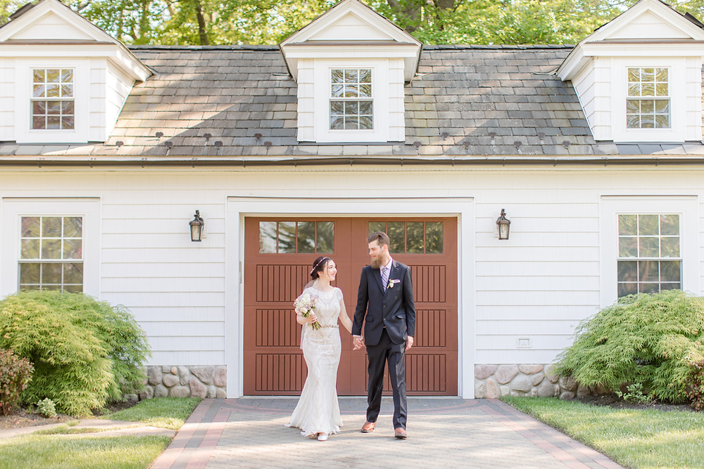 English Manor, NJ wedding, bride and groom
