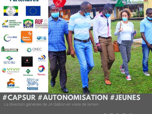 « Cap sur l'autonomisation des jeunes » :  La direction générale de JA Gabon en visite de terrain