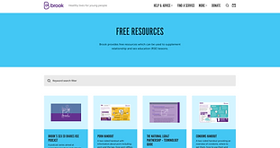 Resources about RSE by Brook.  The young people's sexual health charity for under-25s