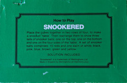 Snookered Puzzle Back