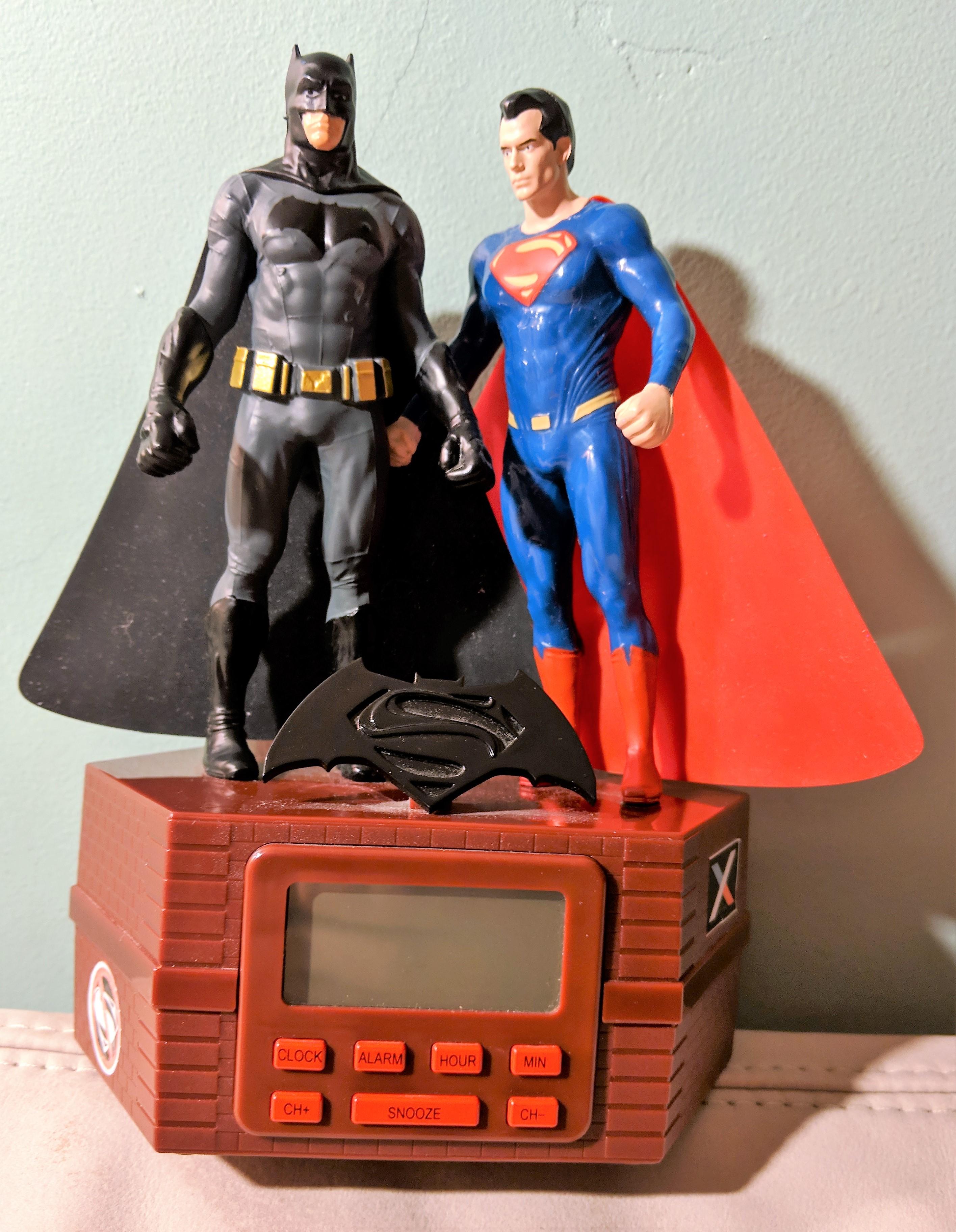 Batman Superman Clock