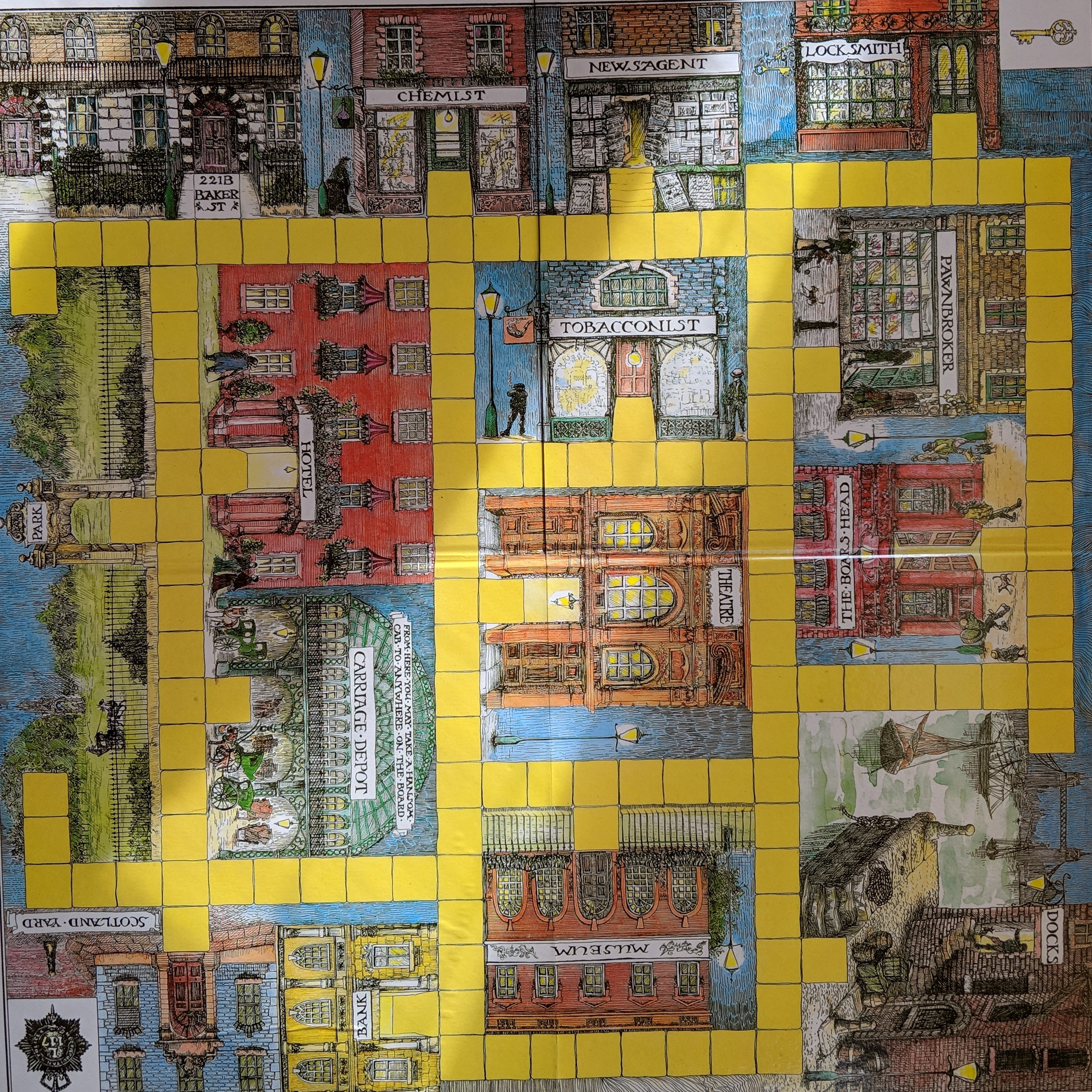 Baker Street Game Board
