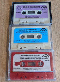 Real Ghostbusters Cassettes
