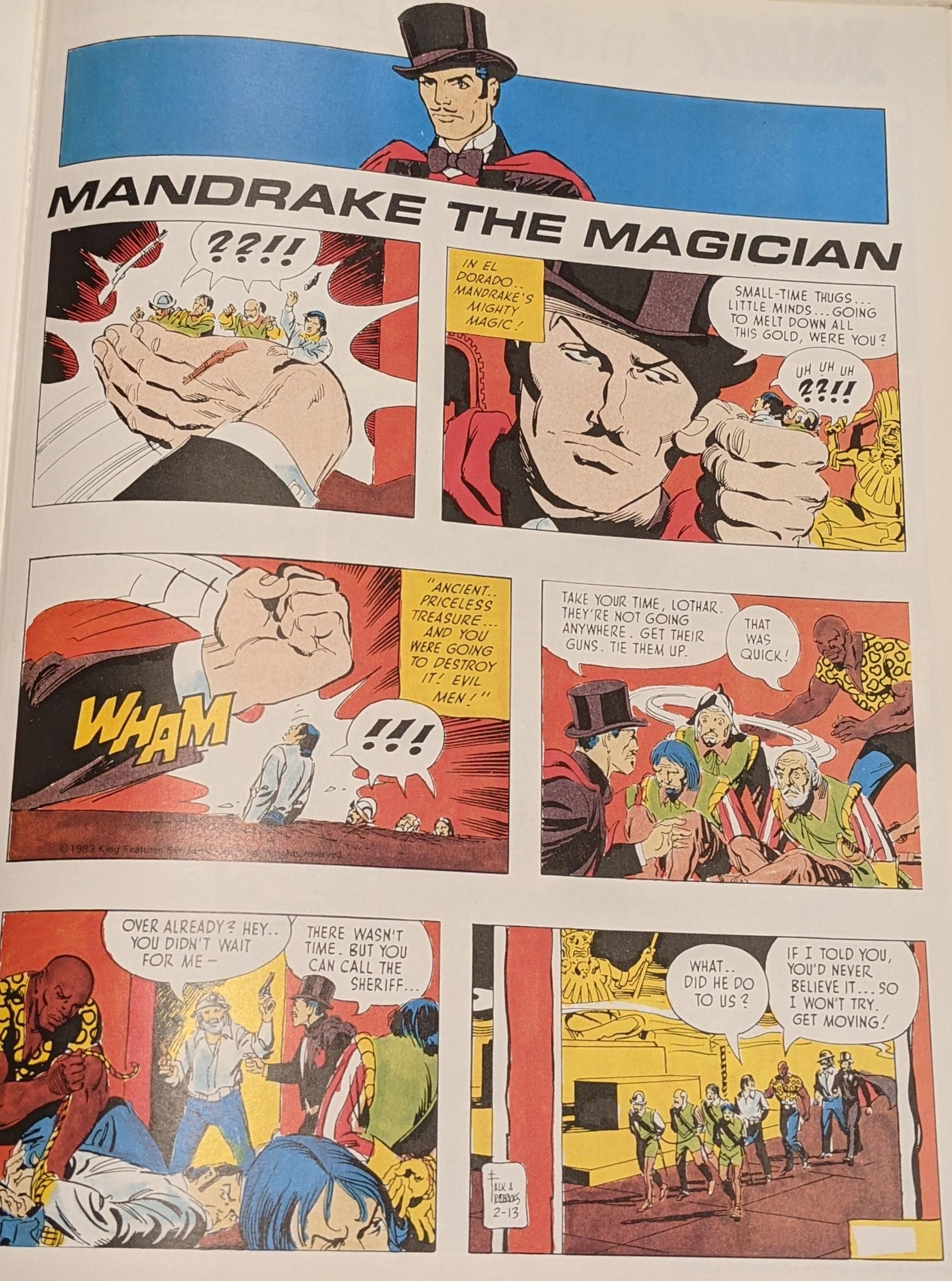 Mandrake Comic
