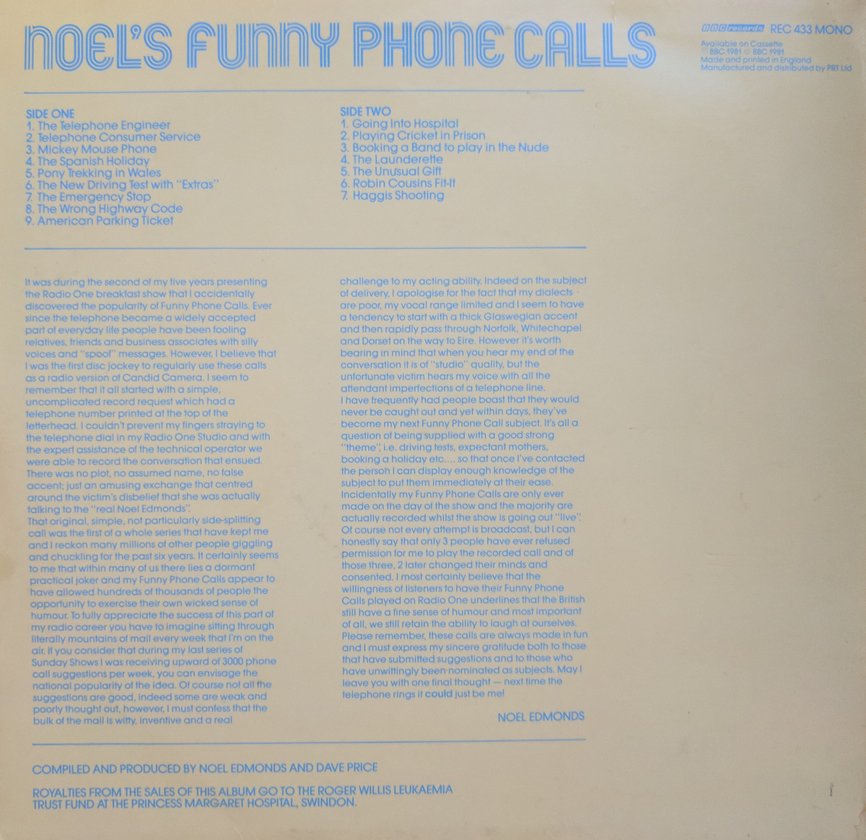 Noels Funny Phone Calls (Back)