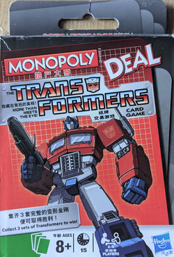 Monopoly Deal Transformers Front