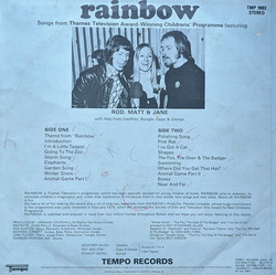 Rainbow Album Back
