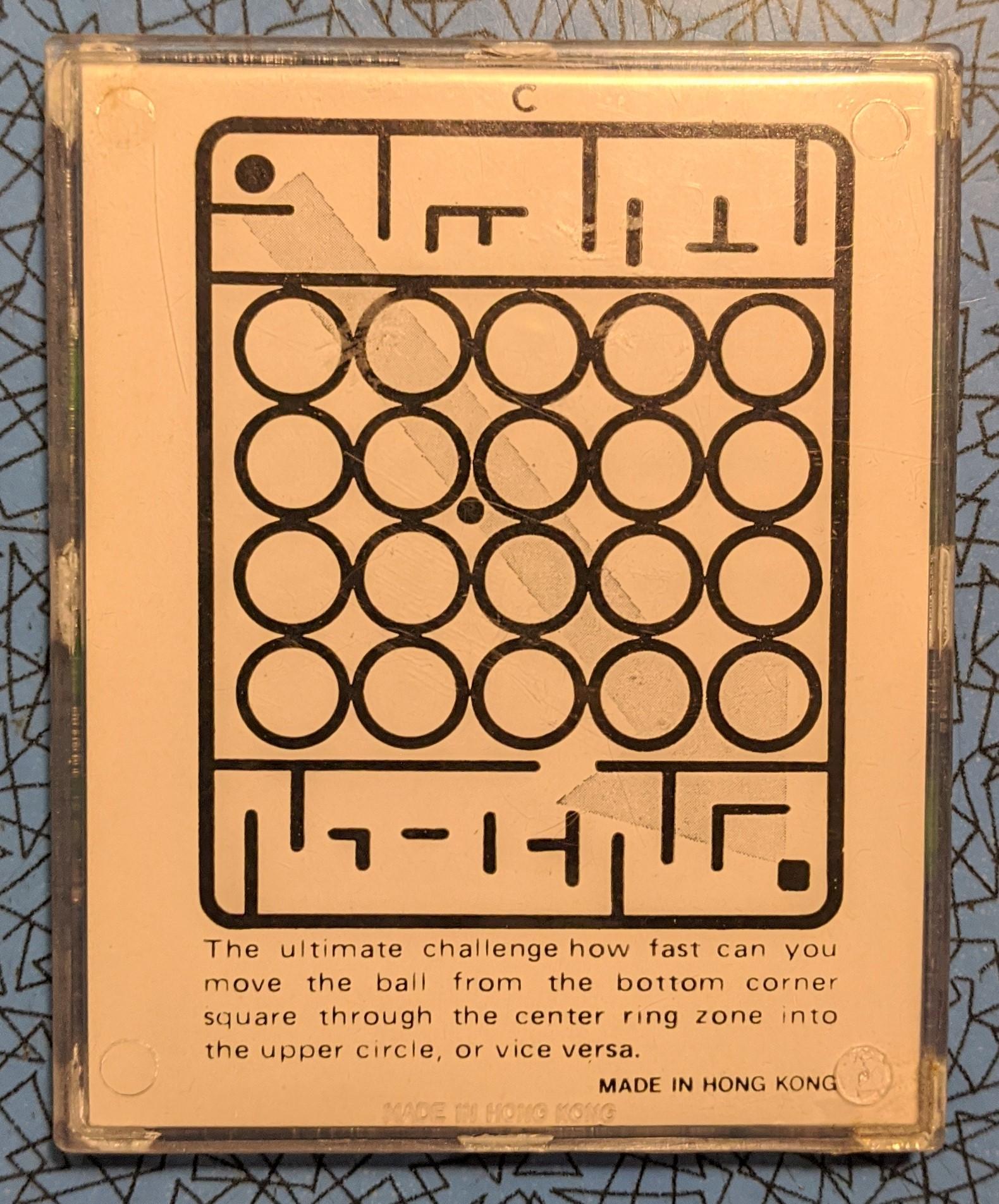Back of Mini Maze