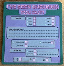 Checking You Out Cards