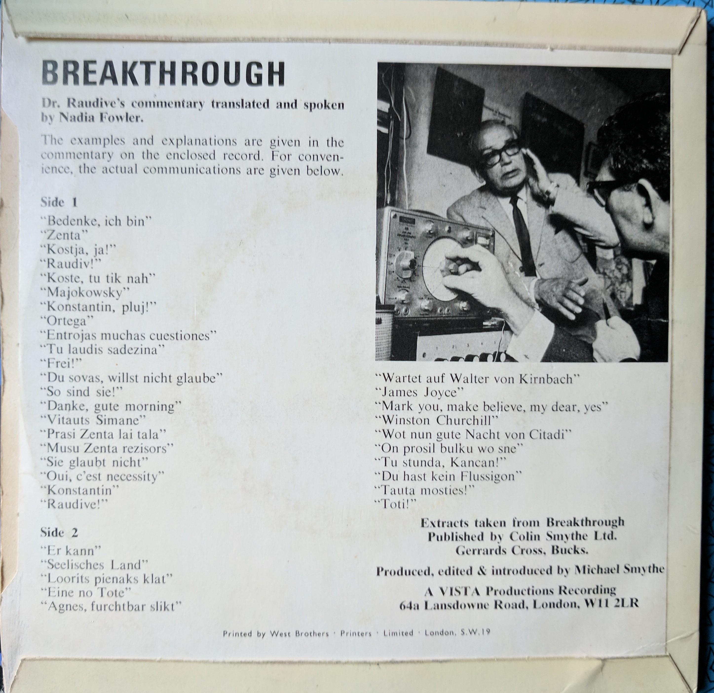 Breakthrough EVP Side B