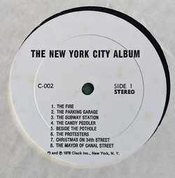 NYC Label Side 1