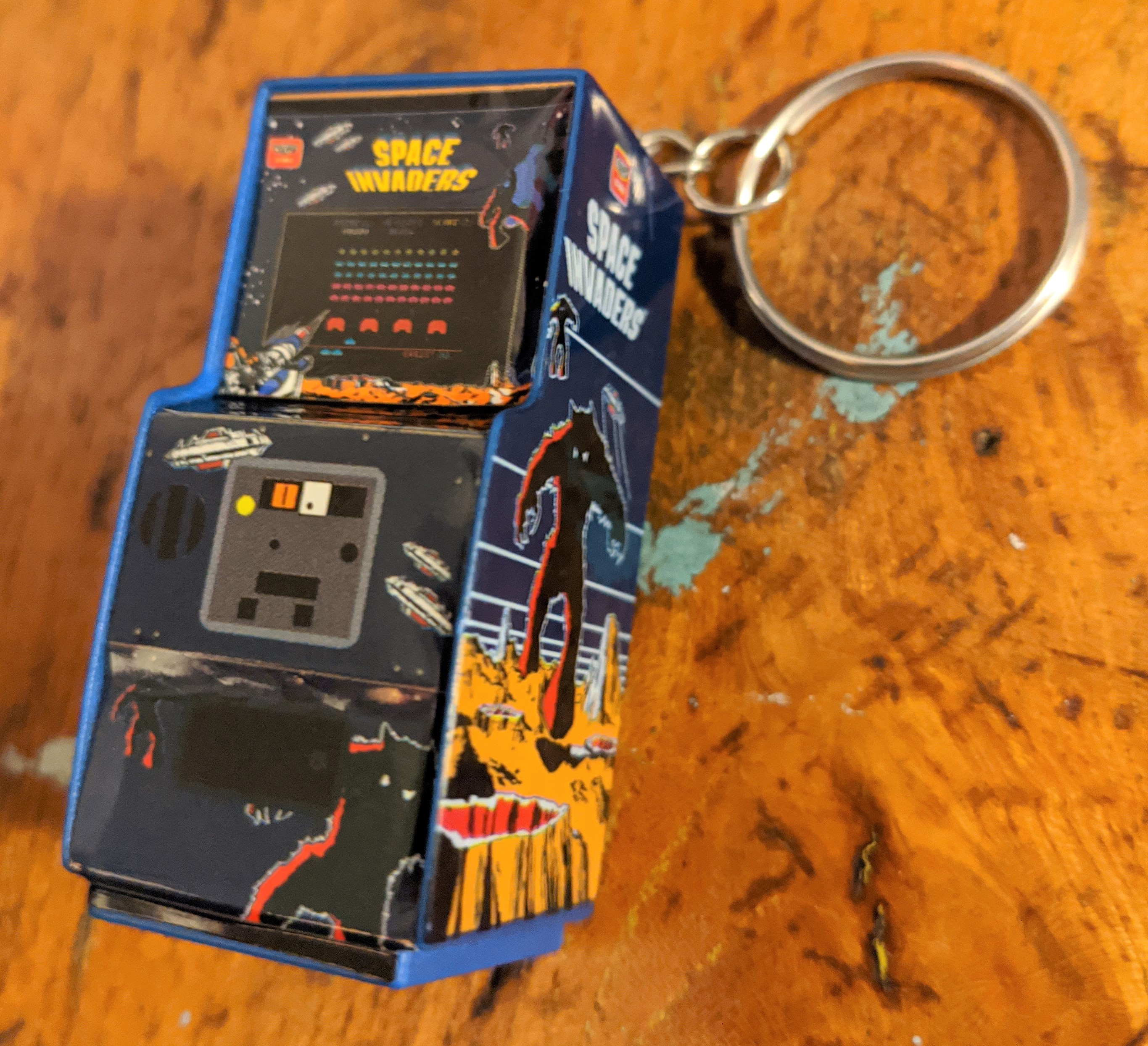 Space Invaders Key Chain