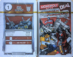 Monopoly Deal Transformers Cards