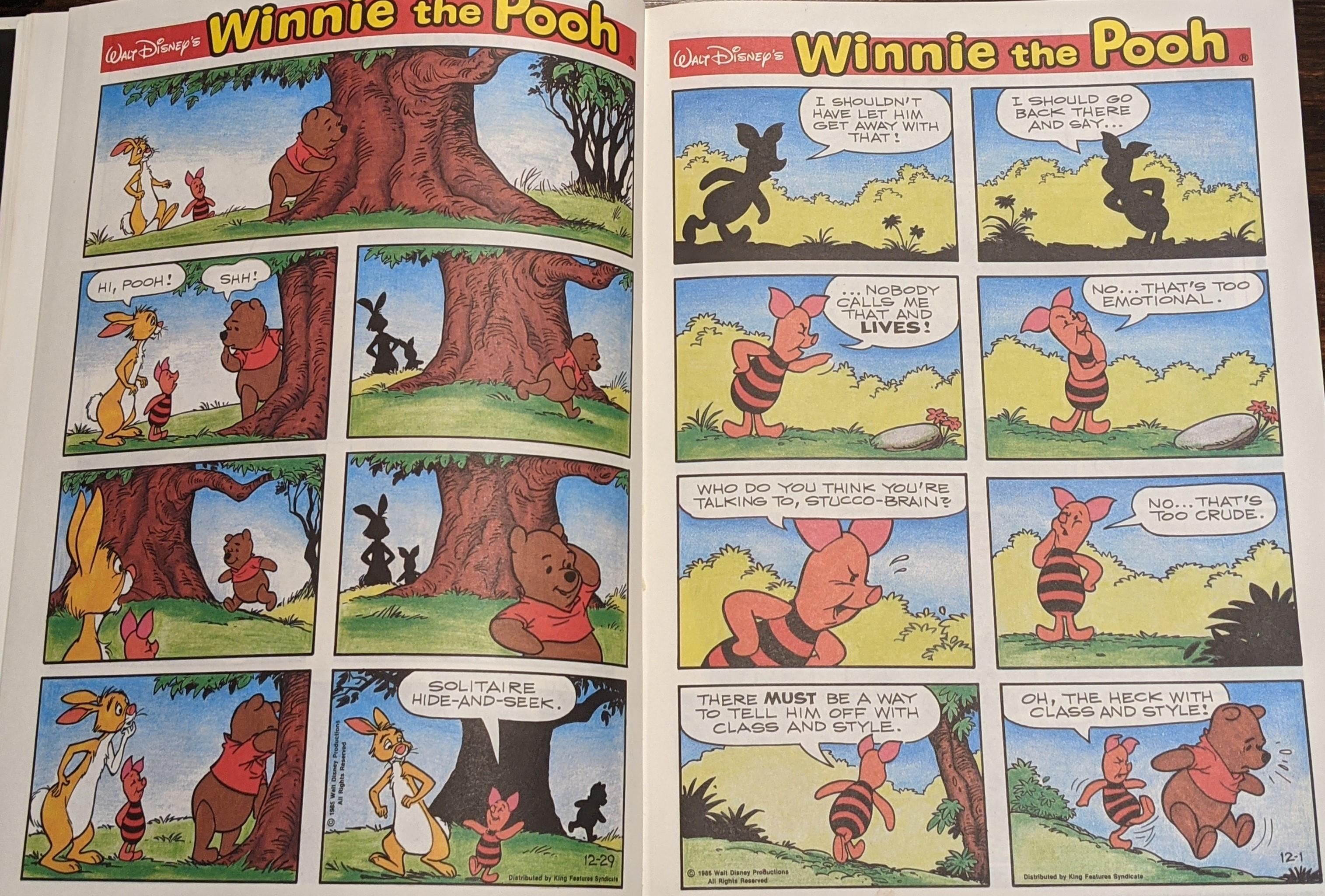 Winnie The Pooh Comic