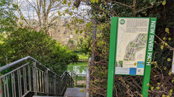Steps to the New River Path