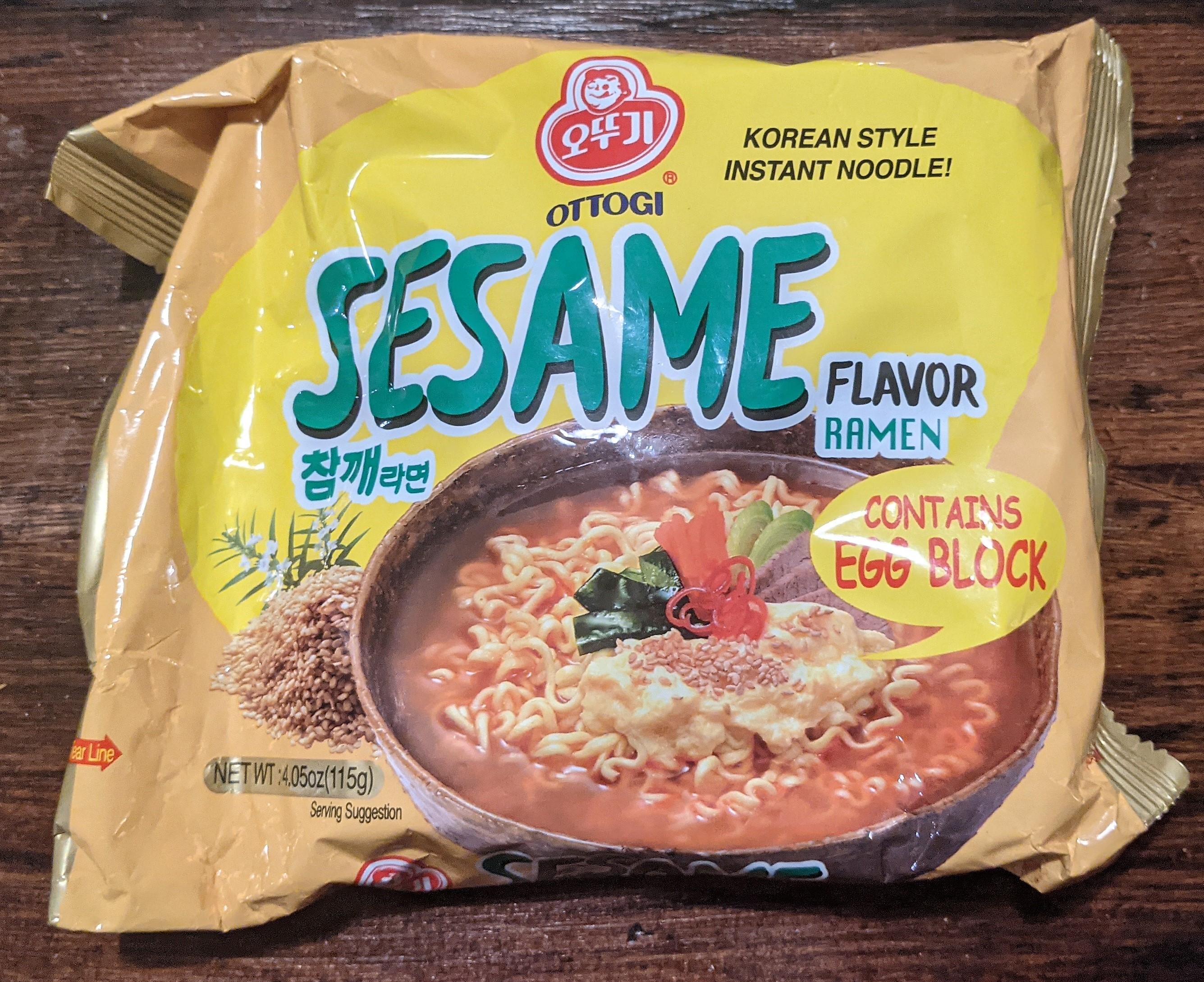 Ottogi Sesame Ramen with Egg Block