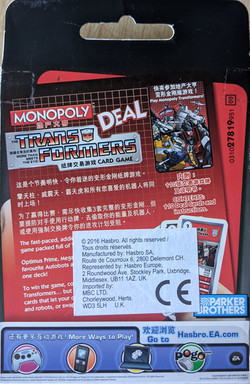 Monopoly Deal Transformers Back