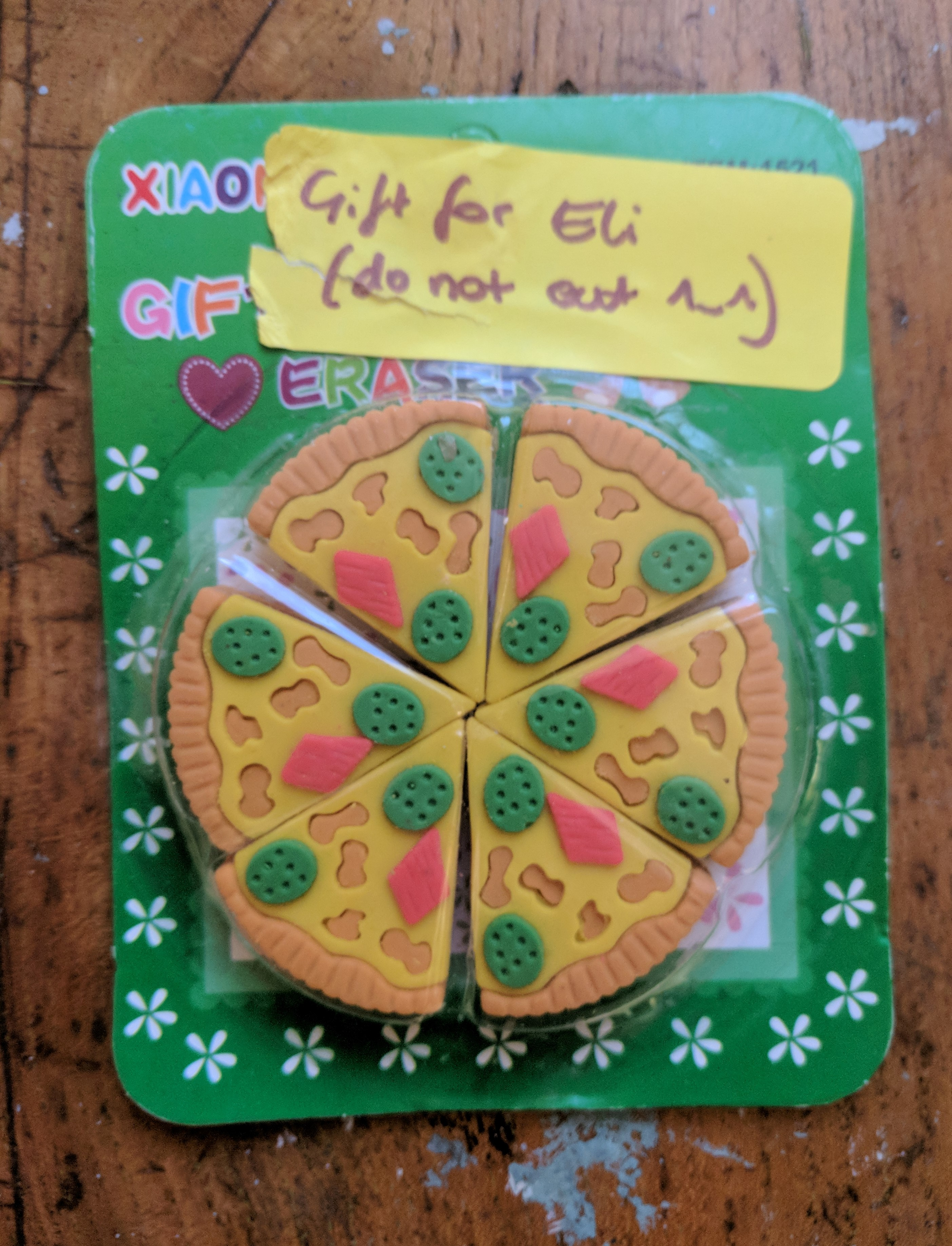 Pizza Eraser