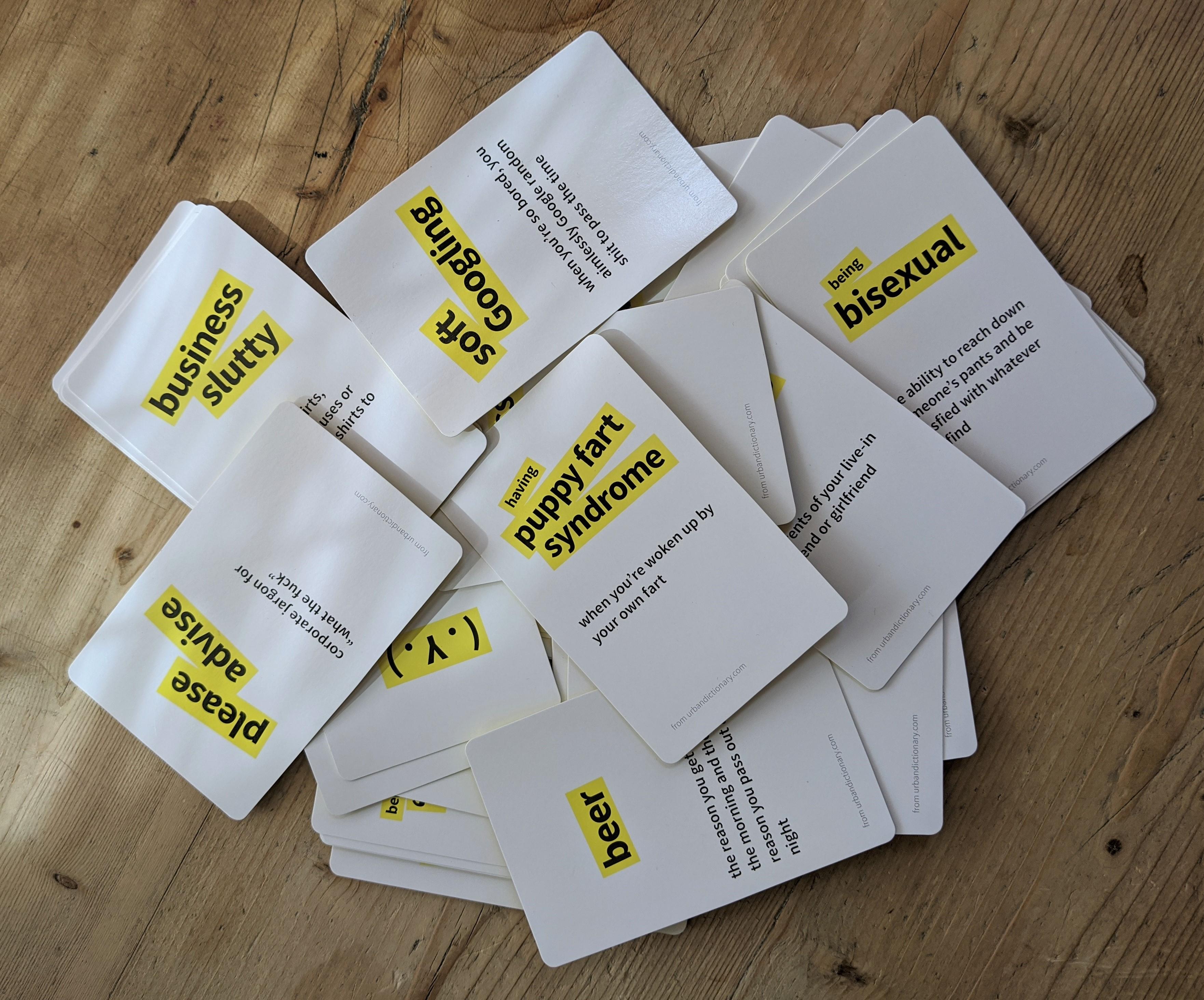 Urban Dictionary Cards