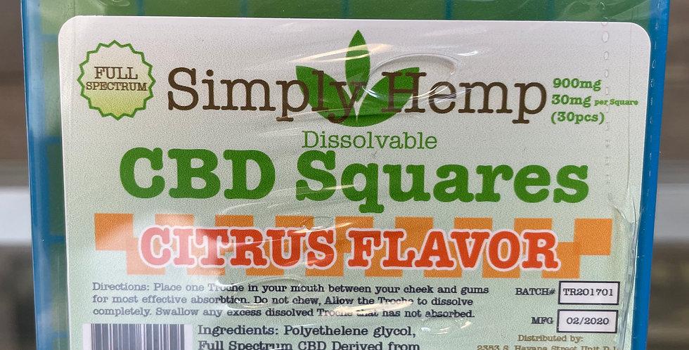 CBD Dissolvable Squares