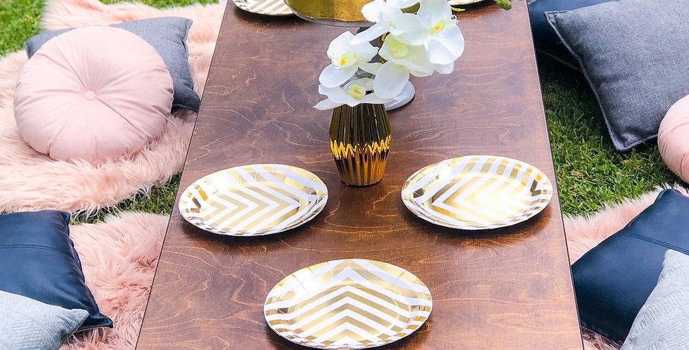 Boho low line picnic table