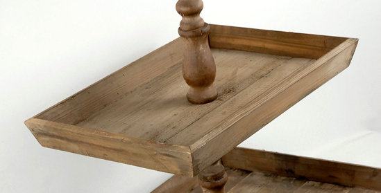 Large 3 Tier Rustic Stand