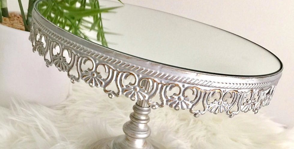 Silver Vintage Cake Stand