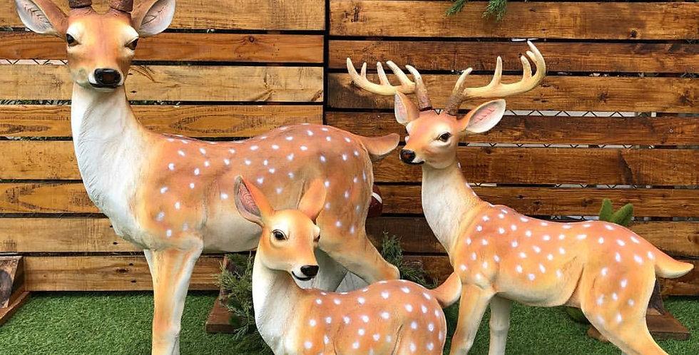Set Of 3 Deers
