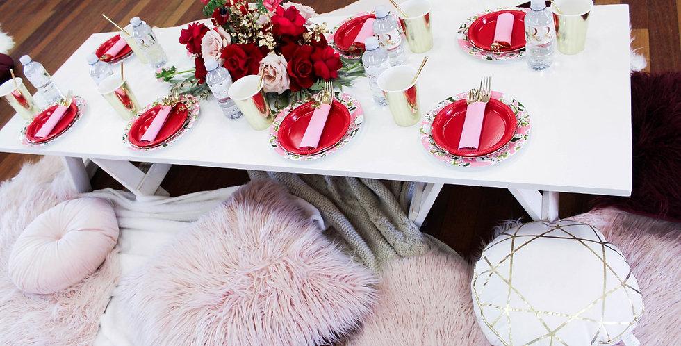 White Picnic Tables
