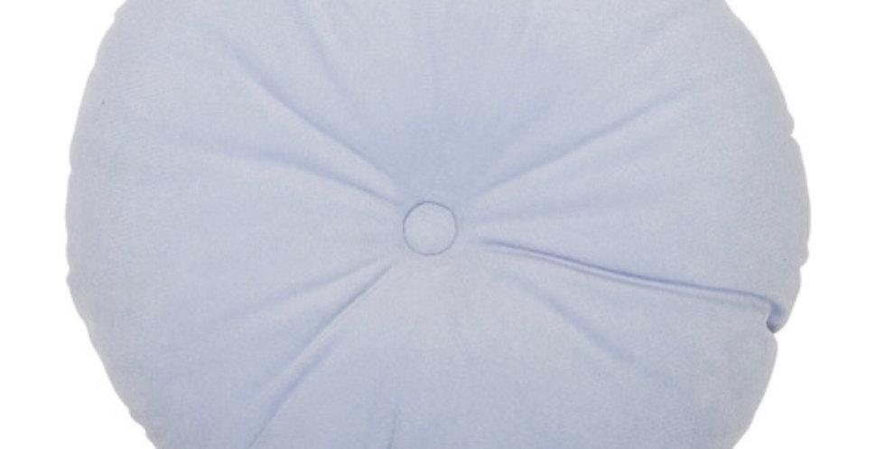 Baby Blue Round Velvet Pillow