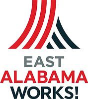 East AlabamaWorks Logo Full Color Stacke