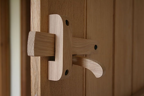 Suffolk latch set - back view