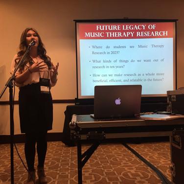 MT Student, Majesca Wong presenting at AMTA