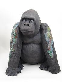 Encaustic painted Gorilla