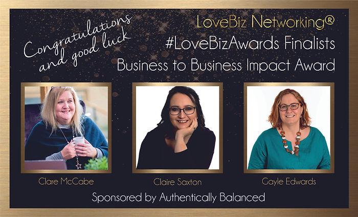 Business to Business Impact Award Finali