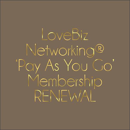 #LoveBiz 'pay as you go' Membership renewal