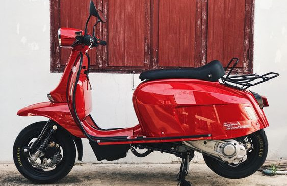 Scomadi TT200 Red Fire Scooter
