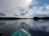 paddling on WI river